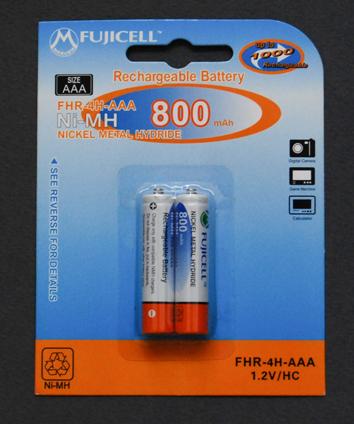 Eπαναφορτιζόμενες Μπαταρίες ΑΑΑ Ni-MΗ, 1.2V, 800mAh 2 τεμάχια