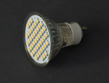Λαμπτήρας LED 5W, GU10, 220V, WW, 2700K