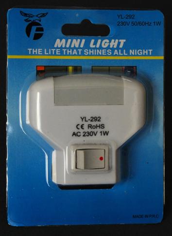 Φωτιστικό Νυκτός 1LED Μίνι 1W